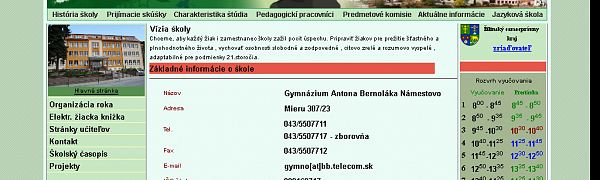 Gymnázium A. Bernoláka Námestovo
